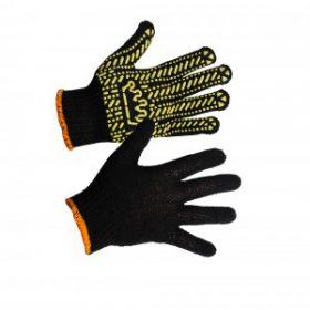 Перчатки ХБ с ПВХ точкой TradeWay 5611-корона